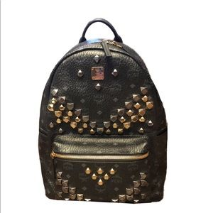 MCM Stark M Stud Medium Backpack
